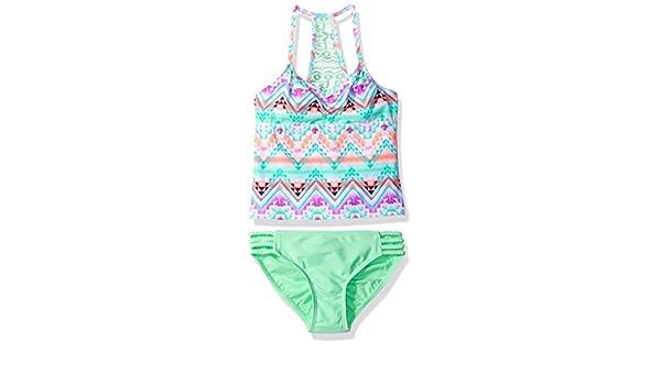 Gossip Girl Big Girls Desert Mirage Two Piece Tankini Swimsuit