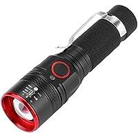 Linterna LED, Mini Impermeable Portátil T6 LED Bolsillo USB Recargable 3 Modos Pluma Clip Luz Linterna Linterna Linterna Lampara