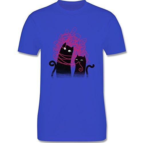 Statement Shirts - Katzenwirrwarr - Herren Premium T-Shirt Royalblau