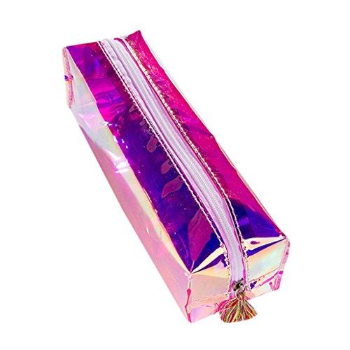 Ouneed® Swag Trousse Zippe Pochette Ecolier de Maquillage 16 * 11 * 6CM (Violet 1)