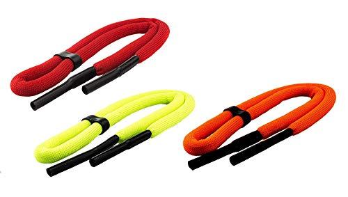 Edison & King Schwimmfähiges Brillenband in Signal-/Neonfarben wahlweise in 1er- oder 2er-Pack (Gelb, 1er-Pack)