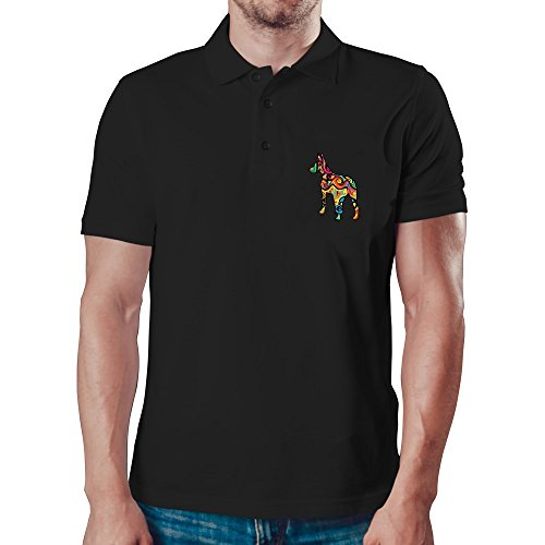 Eddany Psychedelic American Hairless Terrier Polo-Hemd -