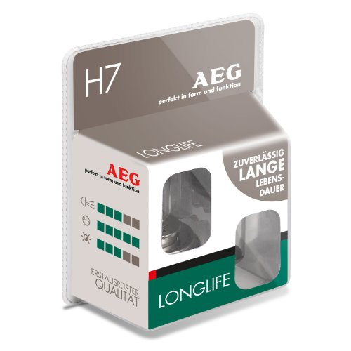AEG Automotive 97266 Glühlampe Longlife H7, 55 W, 2-er Set