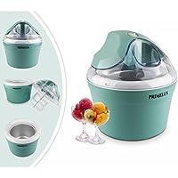 Primelux - Maquina de Yogur Helado, Maquina para Hacer Helado, Azul, Potencia: 12 W, Tamaño del tazón: 20 x 20 x 13,5 cm