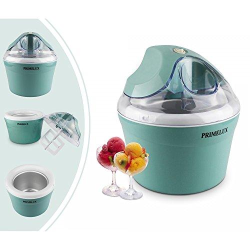 Primelux - Frozen Joghurt Maschine, Eismaschine, Blau, Watt: 12 W, Schüsselgröße: 20 x 20 x 13,5 cm