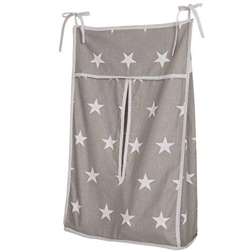Windel-Organizer Little Stars hübsche Aufbewahrung aus Baumwolle • Kinderzimmer Windeltasche Sterne