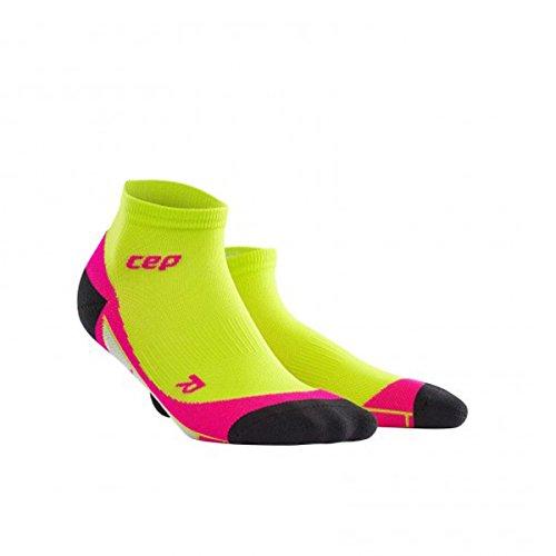 CEP LOW CUT SOCKS Damensocken Damen Socken Compression Run Running Sportsocken (lime/pink, III - (38-40)) (Low Socks Schuhe Cut)