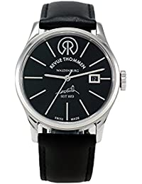 Revue Thommen 1853 - Classic Men's Automatic Watch with Black Dial Analogue Display and Black Leather Strap 101.01.02