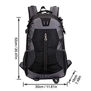 Wocharm(TM) Best Quality 40L Outdoor Cycle Hiking Backpack Waterproof Camping Rucksack Bag UK Stock (Black)