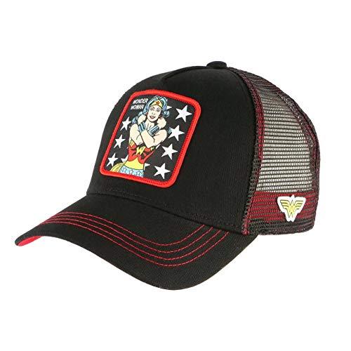 CAPSLAB Cap Wonder Woman, Schwarz, Trucker Baseball Herren Gr. Einheitsgröße, Schwarz