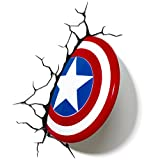 Light 3D-Wandleuchte Marvel Captain America-Schild von 3D FX