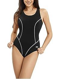 Gwinner Damen Badeanzug- Geeignet Für Freizeit Und Sport - Ideale Passform - Beständig Gegen UV Und Chlor -Made In EU #Ola