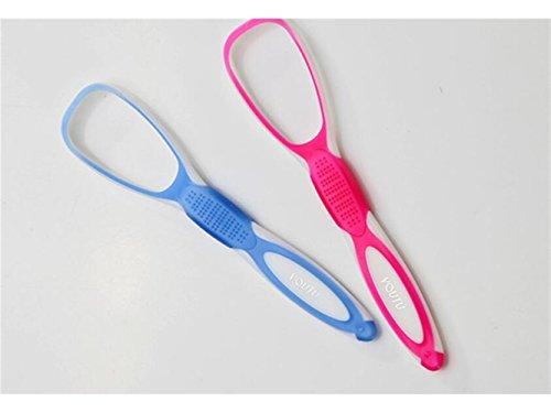 Flowerrs Sinnvoll Zungenschaber Mundpflege Werkzeuge Mundreiniger Zungenbürste Zungenreiniger (Blau) Startseite-Gadget