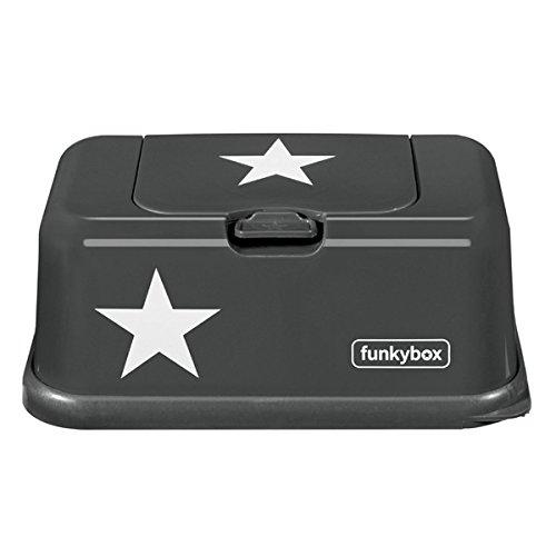 feuchttuchspender Feuchttücherbox, Funkybox anthrazit mit Sternen