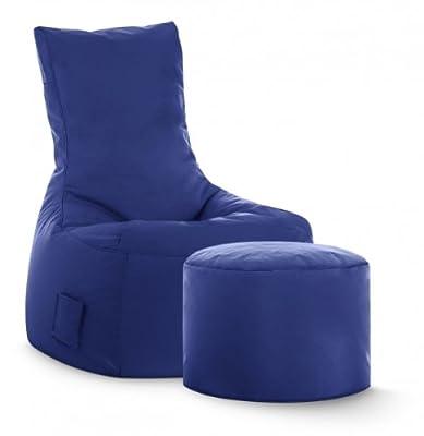 Sitzsack-Set Scuba Swing + Hocker dunkelblau (Outdoor)