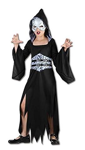 Girls After Dark Reaper Kinder Halloween Kostüm Alter 4-12 Jahre (Large (Age 9-12 Years), Schwarz)