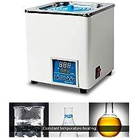HUKOER Baños termostáticos de agua con Pantalla digital hasta 100 °C Capacidad de 3 L Potencia de 300 W para Laboratorios