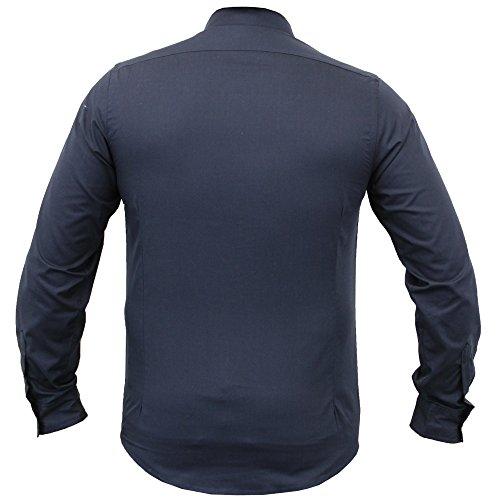 Herren Shirt Brave Soul Kariert Schottenkaro Kragen Langärmlig Baumwolle Knopf Fashion Marineblau - 69TUDOR