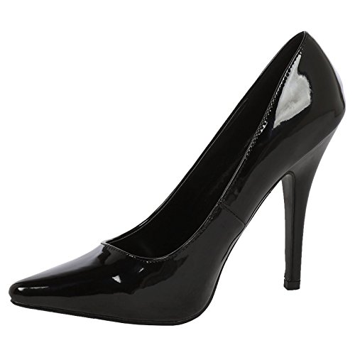 ByPublicDemand Alex Mens and Womens High Stiletto Heel Pointed Toe Court Shoes