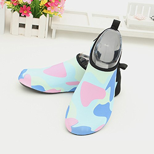 Zhhlaixing Lightweight Barefoot Water Shoes, Spiaggia Snorkeling Nuotare Diving Ballet Yoga Rubber Sole Socks,Unisex Sky Blue