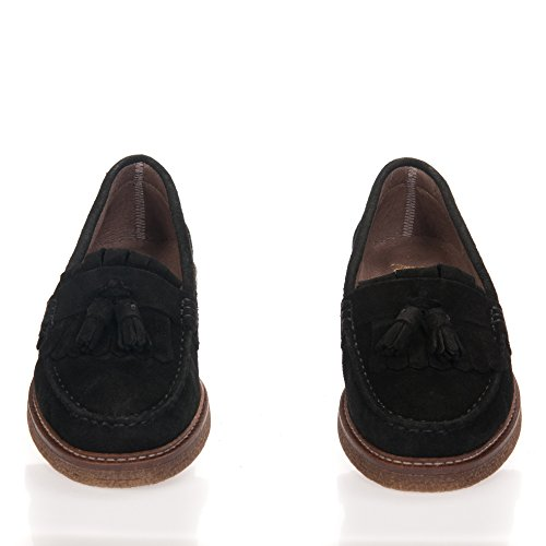 Castellanisimos Mocassino Uomo di Pelle Leather Men Moccasins Eleganti Nero