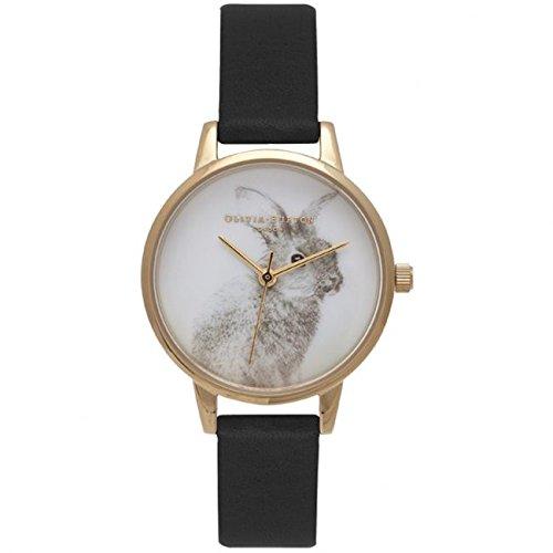 Reloj de pulsera Olivia Burton Woodland con diseño de conejo y apto para veganos; OB15WL57