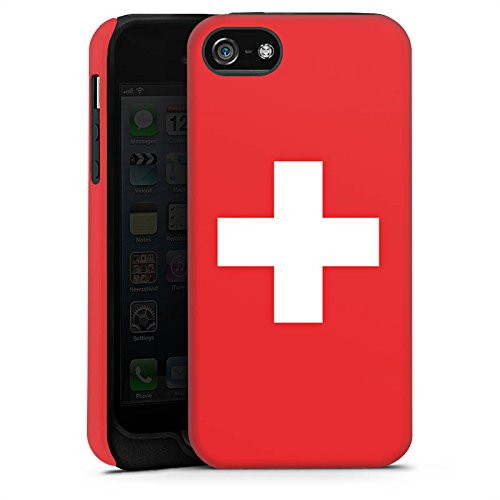 Apple iPhone 6 Silikon Hülle Case Schutzhülle Schweiz Flagge Switzerland Tough Case matt