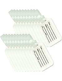 BlueCosto 10/20 Pack Étiquette de Bagage Valise Accessoires Voyage Identifier Étiquettes