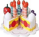 Beluga Spielwaren 70587 - Geburtstagstorte aus Holz, 30-teilig