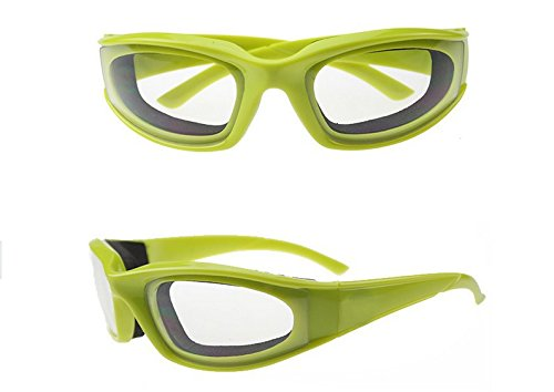 BESTONZON Zwiebelbrille Nie Lacrime Brille für Zuhause und Küche zum Zerkleinern von Zwiebeln (Grün)