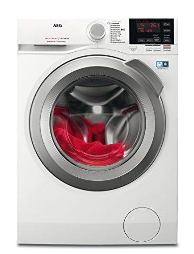 AEG L6FB67490 Waschmaschine Frontlader / Waschautomat mit Energieklasse A+++ (152 kWh/Jahr) / XXL ProTex Schontrommel (9 kg) schützt hochwertige Textilien / Waschmaschine mit Mengenautomatik / weiß