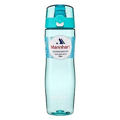 Trinkflasche [BPA-frei, Spülmaschinenfest, Sicher vor schädlichen Chemikalien, Auslaufsicher] Trinkflasche Sport, Trinkflasche Kinder, Sportflasche, Wasserflasche - Mannhart 650ml B100 Aqua Blue