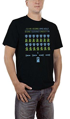 Touchlines Herren T-Shirt Bad Wolf Schwarz (Black 13), (Kostüm Big Halloween Wolf Bad)