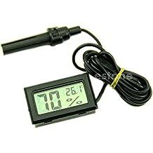 rivalty (TM) Mini termómetro higrómetro medidor de temperatura y humedad Digital con Pantalla LCD