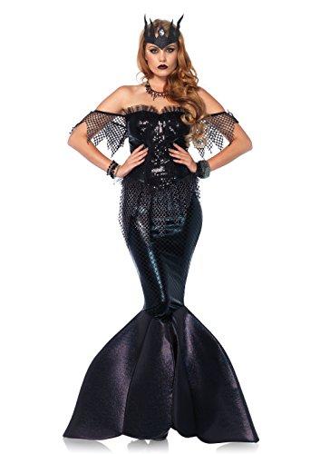 Leg Avenue Damen Kostüm Dark Water Mermaid Meerjungfrau schwarz (Sexy Erwachsene Kostüme Meerjungfrau)