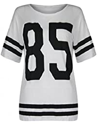 The Home of fashion blanc extra large Varsity 85American Football Baseball T pour femme (SM (8–10))