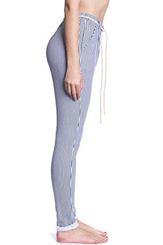Abbino IG001 Hosen Damen Frauen - Made in Italy - Viele Farben - Übergang Frühling Herbst Winter Damen Hosen Dynamisch Elegant Beiläufig Sexy Freizeit Modern Süß Flexibel Jung Sale Blau (Art. 8227)