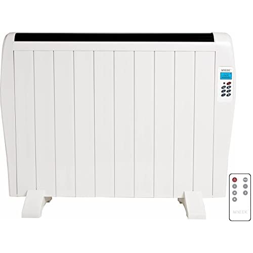41juRpydiGL. SS500  - MYLEK Premium Aluminium Electric Panel Heater with Timer, Thermostat & Remote Control - Wall Mounted/Freestanding Slim White Panel Heater (1500W)