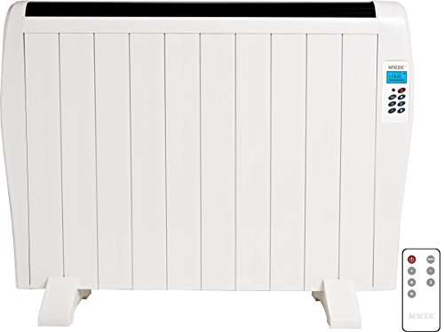 41juRpydiGL - MYLEK Premium Aluminium Electric Panel Heater with Timer, Thermostat & Remote Control - Wall Mounted/Freestanding Slim…