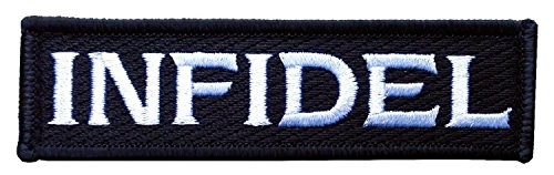 INFIDEL Tactical Military Airsoft Paintball Morale Patch * Iron on/Sew on