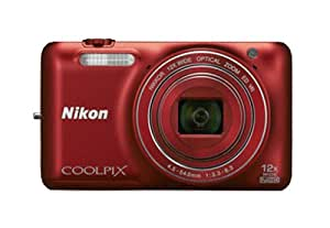 Nikon Coolpix S6600 16MP Point and Shoot Camera (Red) with 12x Optical Zoom, 4GB Card and Camera Case