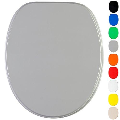 Sedile wc, grande scelta di belli sedili wc uni, da legno robusto e di alta qualità (grigio)