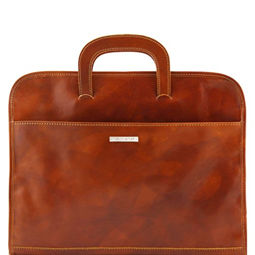 Tuscany Leather Sorrento - Serviette Porte-documents en cuir Marron Porte-document en cuir Miel