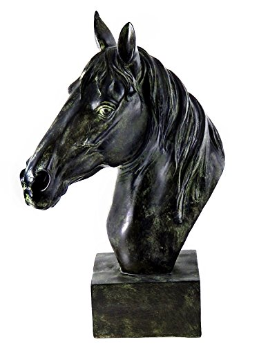Stunning Horse Head Bust Large Bronze Color Sculpture Museum Quality 18