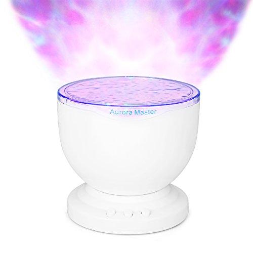 Licht Lampe Ozean Welle mit MP3Lautsprecher weiß
