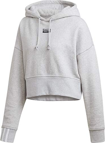 adidas Originals Hoody Damen Vocal Crop Hood EJ8538 Grau, Size:34