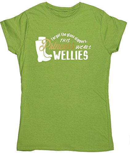 hippowarehouse-forget-the-glass-slippers-this-princess-wears-wellies-womens-fitted-short-sleeve-t-sh
