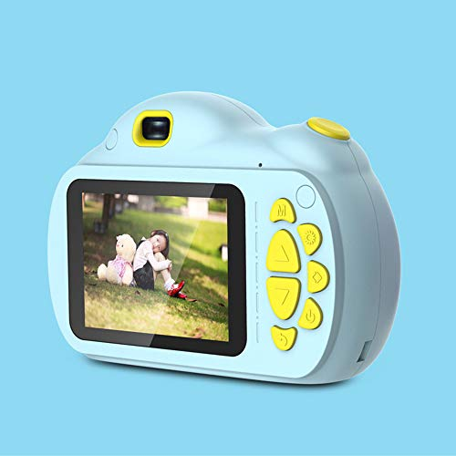 QYY Kinder Digitalkamera, 2,4-Zoll-IPS-Display Autofokus 1080P Mini-SLR-Kamera, unterstützen mehr als 20 Nationale Digitale HD-Kamera Spielzeug Selfie,Blue - 20 Digital Kamera