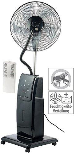 Sichler Haushaltsgeräte Ventilator mit Wasser: Sprühnebel-Standventilator mit Anti-Insekten-Funktion, 100 W, Ø 40 cm (Ventilator mit Wassertank)
