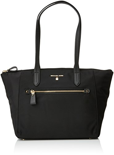Michael Kors Damen Nylon Kelsey Md Tz Tote, Schwarz (Black), 25x15x29 Centimeters